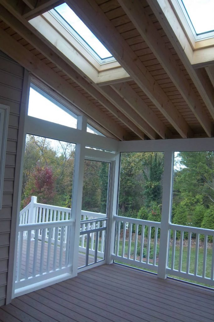 Skylights in Screened Porch- Deck Builder Frederick MD