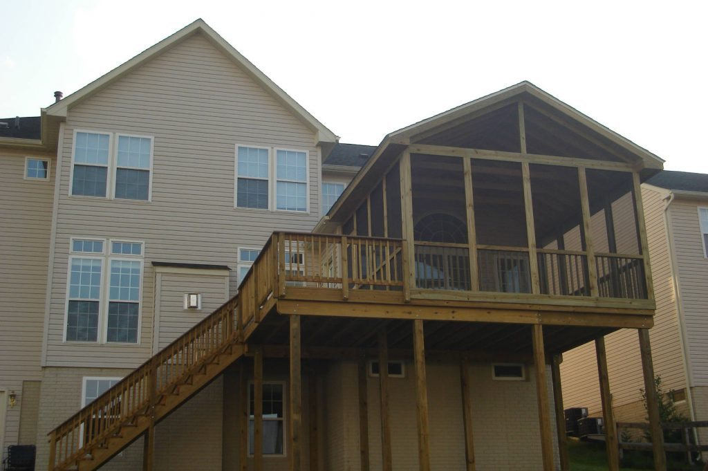 All Wood Screened Porch- Deck Builder Frederick MD