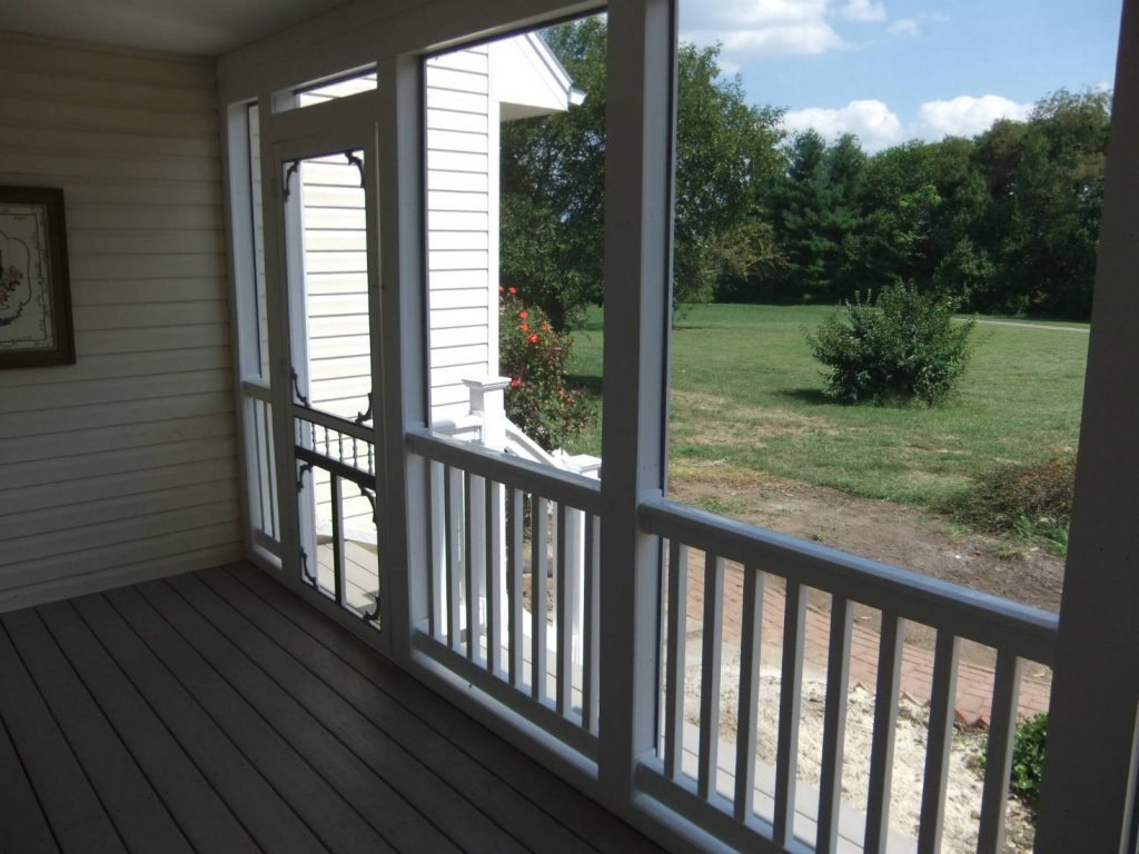 Screen Porch Home Renovations- Builder Frederick MD
