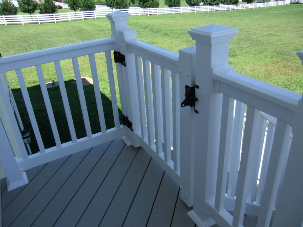 Vinyl Gate. Built in Washington County- Deck Builder & Home Renovations Frederick MD