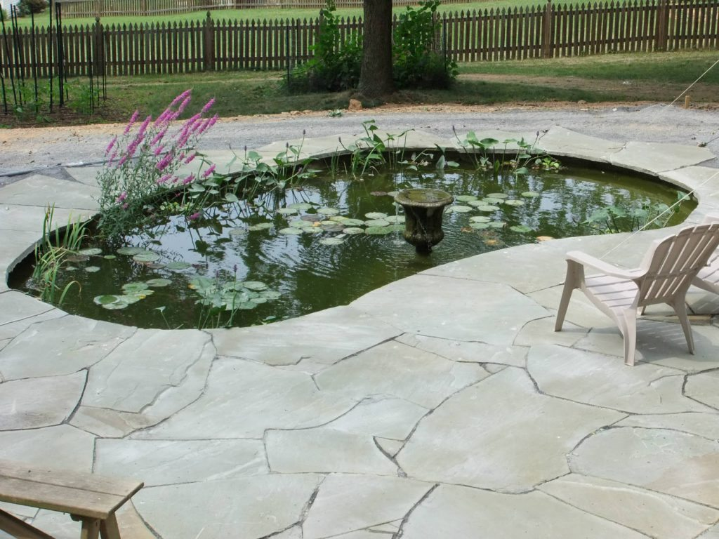 Flagstone Work with Pond