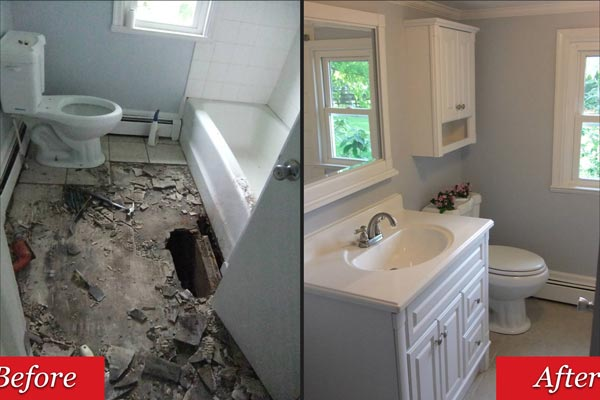 Home renovations and repairs frederick md bradford for Bathroom repair and remodel