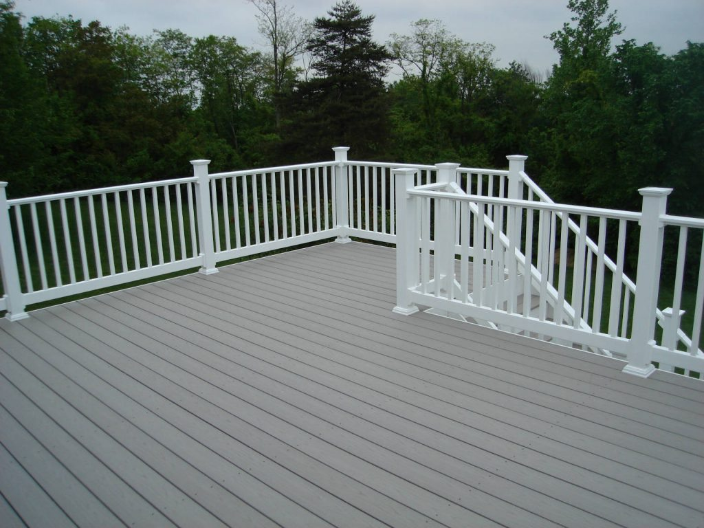 Azek Decking with Vinyl Rails- Deck Builder & Home Renovations Frederick MD