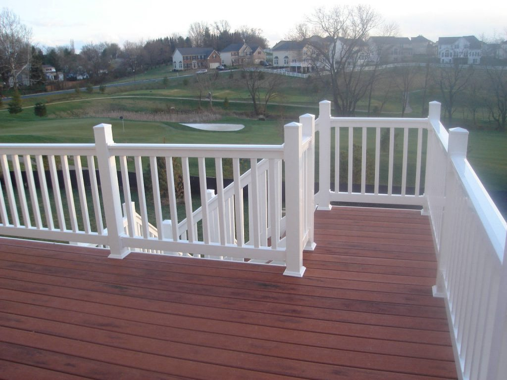 Trex Decking with Vinyl Rails- Deck Builder and Home Renovations Frederick MD