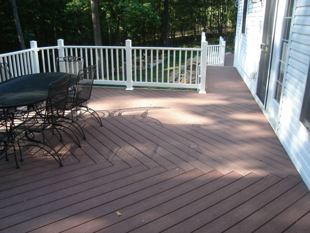 Trex Deck with Vinyl Rails- Wood Deck with Wood Rails- Deck Builder Frederick MD