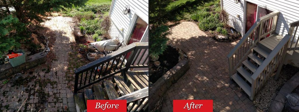Pressure Wash & Seal Before & After in Carroll County